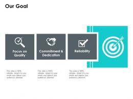 Our Goal Focus On Quality Ppt Powerpoint Presentation Styles Professional