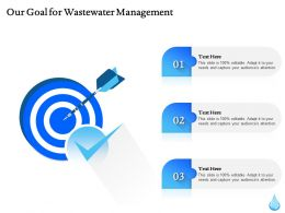 Our Goal For Wastewater Management Ppt Powerpoint Format Ideas