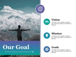 Our Goal Mission F490 Ppt Powerpoint Presentation Model Background Images
