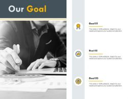 Our Goal Plan H190 Ppt Powerpoint Presentation Professional Example Topics