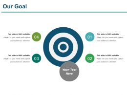 Our Goal Powerpoint Shapes