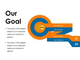 Our Goal Powerpoint Shapes Template 1