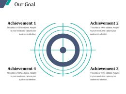 Our Goal Powerpoint Slide Deck Template