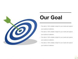 Our Goal Powerpoint Slide Design Templates