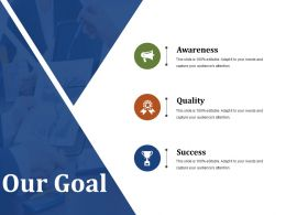 Our Goal Powerpoint Slide Information