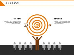 Our Goal Powerpoint Slide Inspiration