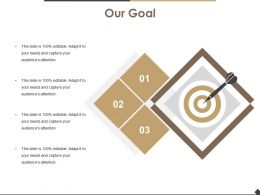Our Goal Powerpoint Slide Template