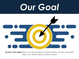 our goal ppt background template