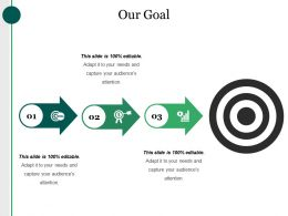 Our Goal Ppt Design Templates