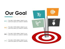 Our Goal Ppt Gallery Slide Portrait