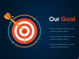 Our Goal Ppt Icon Template