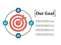 Our Goal Ppt Infographic Template Background