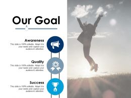 Our Goal Ppt Infographic Template Background Image