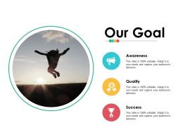 Our Goal Ppt Infographics Microsoft