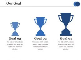 Our Goal Ppt Infographics Show