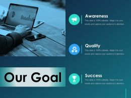 Our Goal Ppt Shapes