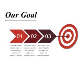 Our Goal Ppt Slides Icons