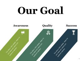 Our Goal Ppt Styles Gridlines