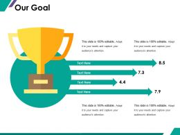 Our Goal Ppt Summary Elements