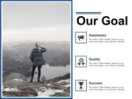 Our Goal Ppt Summary Graphics Example