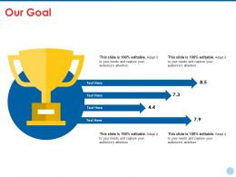 Our Goal Ppt Summary Icon