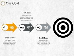 Our Goal Ppt Summary Infographic Template
