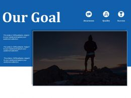 Our Goal Ppt Visual Aids Background Images
