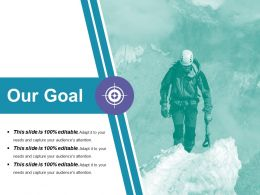 Our Goal Ppt Visual Aids Outline
