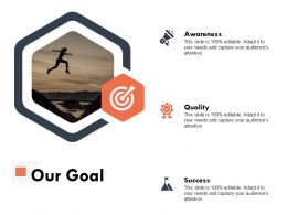 Our Goal Quality Ppt Powerpoint Presentation Outline Themes