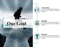 Our Goal Quality Success Ppt Layouts Example Introduction