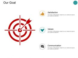 Our Goal Satisfaction Values L318 Ppt Powerpoint Presentation Show Influencers