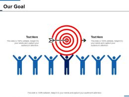 Our Goal Success Arrow Ppt Inspiration Background Designs