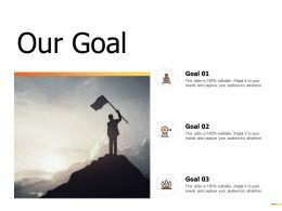 Our Goal Success Arrows D246 Ppt Powerpoint Presentation Gallery Brochure