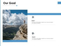 Our Goal Success Planning Ppt Powerpoint Presentation Professional Good