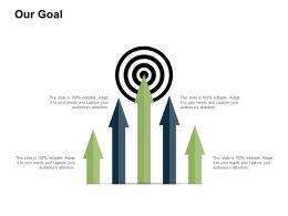 Our Goal Target I398 Ppt Powerpoint Presentation Portfolio Topics