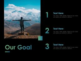 Our Goal Target Ppt Powerpoint Presentation File Infographics