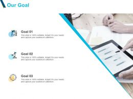 Our Goal Targets Acheivements F102 Ppt Powerpoint Presentation Slides