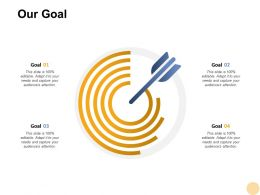 Our Goal Targets F409 Ppt Powerpoint Presentation Pictures Demonstration