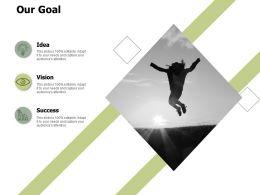 Our Goal Vision A519 Ppt Powerpoint Presentation Portfolio Summary