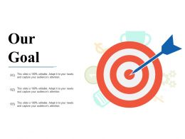 Our Goal With Arrow Obstacles And Solutions Ppt Slides Good