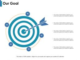 Our Goal With One Arrows Ppt Infographic Template Designs