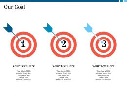 our_goal_with_three_arrows_example_presentation_about_yourself_Slide01