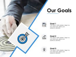 Our Goals Acheivements F233 Ppt Powerpoint Presentation Pictures Maker