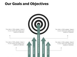 Our Goals And Objectives Arrow A105 Ppt Powerpoint Presentation Gallery Themes