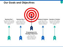 Our Goals And Objectives Arrows Ppt Powerpoint Presentation Pictures Introduction