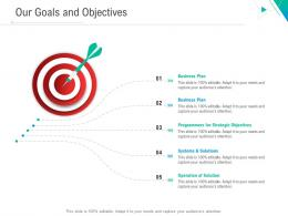 Our Goals And Objectives Business Outline Ppt Themes