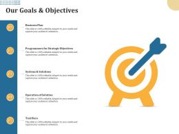 Our Goals And Objectives Business Plan M2011 Ppt Powerpoint Presentation Professional Show