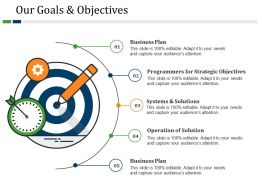 Our Goals And Objectives Powerpoint Slide Ideas