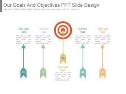 Our Goals And Objectives Ppt Slide Design