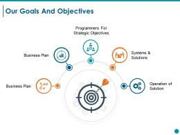Our Goals And Objectives Ppt Styles Clipart Images